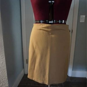 Taupe Women's Form Fitting Skirt, Size 14